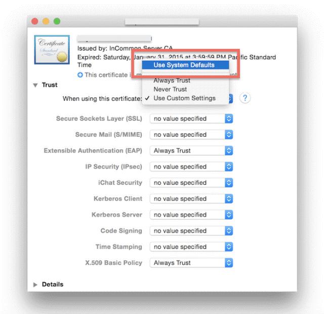 macOS passcode