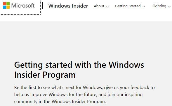 window get started